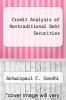 cover of Credit Analysis of Nontraditional Debt Securities