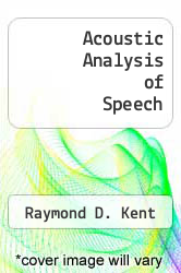 Cover of Acoustic Analysis of Speech 1 (ISBN 978-1879105430)