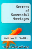 cover of Secrets of Successful Marriages