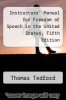 cover of Instructors` Manual for Freedom of Speech in the United States, Fifth Edition (5th edition)