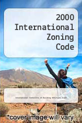Cover of 2000 International Zoning Code  (ISBN 978-1892395238)