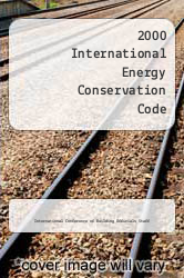 2000 International Energy Conservation Code by International Conference of Building Officials Staff - ISBN 9781892395245