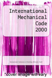 Cover of International Mechanical Code 2000 EDITIONDESC (ISBN 978-1892395344)