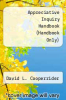 cover of Appreciative Inquiry Handbook (Handbook Only)