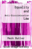 cover of Equality and Anti-Discrimination Law