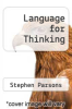 cover of Language for Thinking (2nd edition)