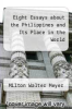 cover of Eight Essays about the Philippines and Its Place in the World