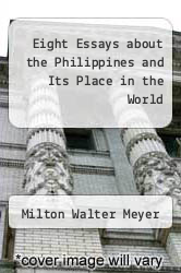 Cover of Eight Essays about the Philippines and Its Place in the World EDITIONDESC (ISBN 978-1930053199)