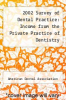 cover of 2002 Survey of Dental Practice: Income from the Private Practice of Dentistry