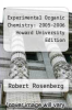 cover of Experimental Organic Chemistry: 2005-2006 Howard University Edition