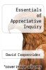 cover of Essentials of Appreciative Inquiry