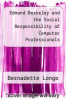 cover of Edmund Berkeley and the Social Responsibility of Computer Professionals
