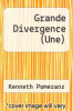 cover of Grande Divergence (Une)