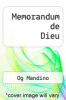 cover of Memorandum de Dieu (2nd edition)