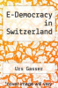 cover of E-Democracy in Switzerland