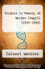 cover of Studies in Memory of Warren Cowgill (1929-1985)