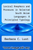 cover of Lexical Anaphors and Pronouns in Selected South Asian Languages: A Principled Typology