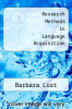 cover of Research Methods in Language Acquisition