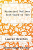 cover of Historical Outlines from Sound to Text