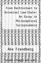 From Rechtsstaat To Universal Lawstate An Essay In Philosophical  From Rechtsstaat To Universal Lawstate An Essay In Philosophical  Jurisprudence By Ake Frandberg English Essays On Different Topics also What Is Thesis Statement In Essay  High School Essays