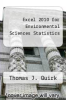 cover of Excel 2010 for Environmental Sciences Statistics