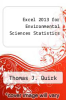 cover of Excel 2013 for Environmental Sciences Statistics