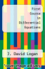 cover of A First Course in Differential Equations (3rd edition)