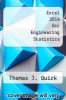 cover of Excel 2016 for Engineering Statistics