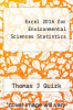 cover of Excel 2016 for Environmental Sciences Statistics