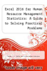 cover of Excel 2016 for Human Resource Management Statistics