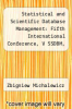cover of Statistical and Scientific Database Management: Fifth International Conference, V SSDBM, Charlotte, N.C., USA, April 3-5, 1990, Proceedings (1st edition)