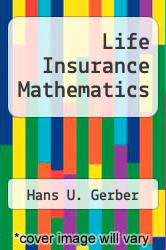 Cover of Life Insurance Mathematics 2 (ISBN 978-3540588580)