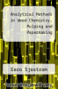cover of Analytical Methods in Wood Chemistry, Pulping and Papermaking (1st edition)