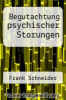cover of Begutachtung psychischer Storungen (2nd edition)