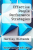 cover of Effective People Performance Strategies