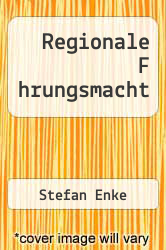 Cover of Regionale F hrungsmacht  (ISBN 978-3640768998)