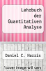 cover of Lehrbuch der Quantitativen Analyse (8th edition)