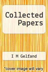 Cover of Collected Papers  (ISBN 978-3642617072)