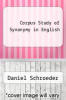 cover of Corpus Study of Synonymy in English