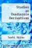 cover of Studies on Oxadiazole Derivatives