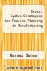 cover of Expert System-Strategies for Process Planning in Manufacturing
