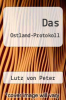 cover of Das Ostland-Protokoll