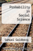 cover of Probability in Social Science