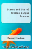cover of Status and Use of African Lingus Francas