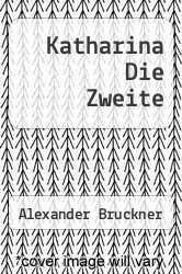 Cover of Katharina Die Zweite EDITIONDESC (ISBN 978-3846028186)