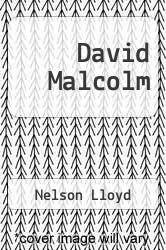 Cover of David Malcolm  (ISBN 978-3847241034)
