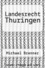 cover of Landesrecht Thuringen (18th edition)