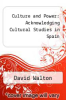 cover of Culture and Power: Acknowledging Cultural Studies in Spain
