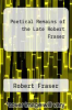 cover of Poetical Remains of the Late Robert Fraser