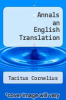 cover of Annals an English Translation
